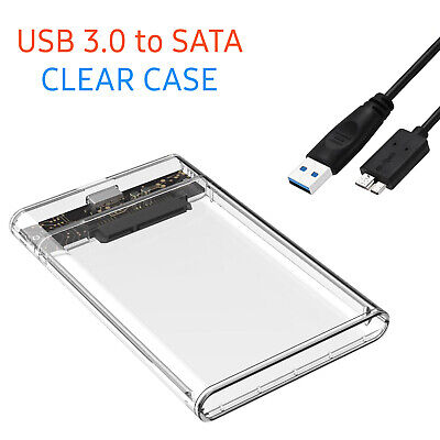USB 3.0 To SATA Hard Drive Enclosure Caddy External Case For 2.5  Inch HDD SSD • 6.59£