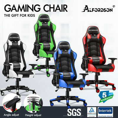 AU129.85 • Buy ALFORDSON Gaming Chair Office Executive Racing Seat Leather Computer 4D Armrests