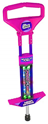 Ozbozz Go Light Up Pink Pogo Stick Spring Powered Outdoor Game Toy For Girls • 25.10£
