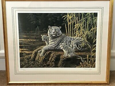 White Tigers By Stephen Gayford Numbered & Signed By Artist • 9.99£