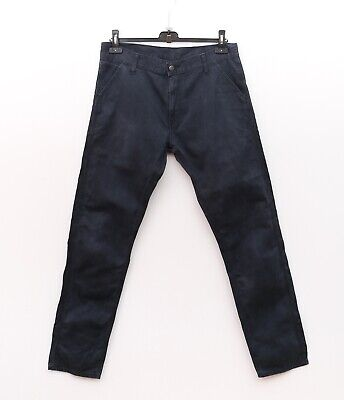 CARHARTT Lincoln Simple Pant Men's W32 L34 Navy Blue Trousers 32x34 WIP Chinos • 45£