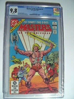 $899 • Buy Masters Of The Universe #1 CGC 9.8 NM/MT..1st  Full He-Man Comic   Dec -1982