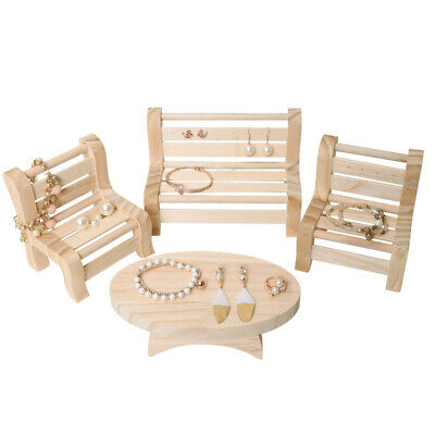 Wooden Earring Necklace Bracelet Jewelry Display Organizer Tray Holder Case • 9.16£