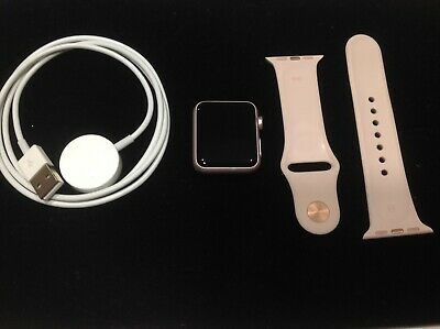 $ CDN140.97 • Buy Apple Watch Series 1 38mm Rose Gold Aluminum Pink Sand Sport Smartwatch EUC