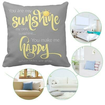 18''X18'' You Are My Sunshine Cotton Throw Pillow Case Decor Cover Cus Home R4L9 • 4.08£
