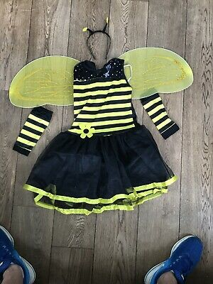 Girls Cute Bumble Bee Costume Insect Animal Kids Fancy Dress Outfit Ages 11-13 • 5.75£