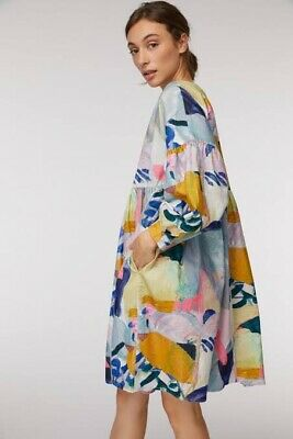 """AU189.90 • Buy New! Pretty GORMAN """"Come Up Here"""" Smock Cord Dress -  Size 14"""