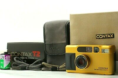 $ CDN1903.04 • Buy 【Almost UNUSED In BOX 】Contax T2 Gold 35mm Point & Shoot Film Camera From JAPAN