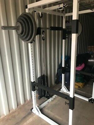 Olympic Multi Gym Power Squat Rack Bench 245kg Weights Barbell Low / High Cable • 1,750£
