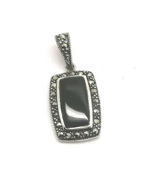 £30 • Buy Whitby Jet  Marcasite And 925 Sterling Silver Pendant
