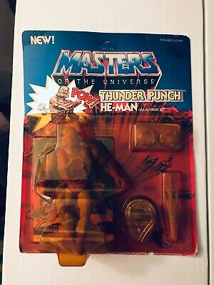 $424.95 • Buy 1984 Mattel Masters Of The Universe Thunder Punch He-Man Mint On Card MOC