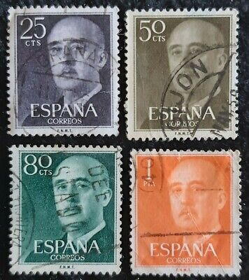 4x Spain 1955 General Francisco Franco Used See Pics For Grading  • 0.99£