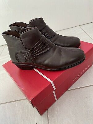 Pavers Kemp 1802 Brown Leather Ankle Boots - UK 5 Eur 38 New In Box RRP £59.99 • 9.99£