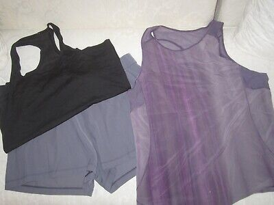 $ CDN94.15 • Buy Lululemon Lot Of 3 New Style Size 12 On The Fly Short Sculpt Tank Swiftly Tech