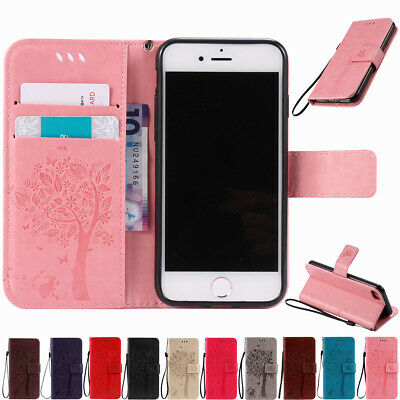 AU10.55 • Buy For IPhone 8 7 6 6s Plus 5s Flip Leather Stand Card Slot Wallet Phone Case Cover