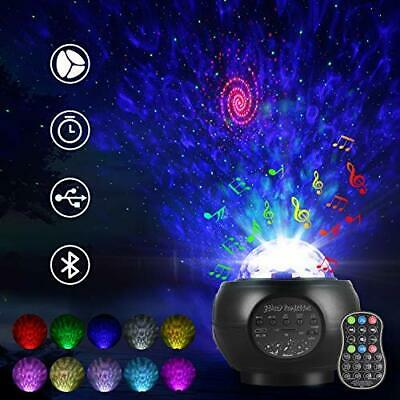 USB Galaxy Star Laser Projector Stary Night Light Lamp Ocean Wave Remote Control • 22.81£
