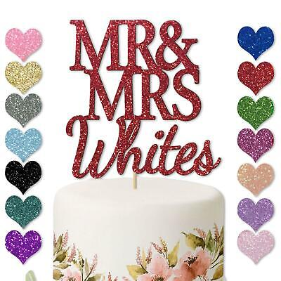 £2.98 • Buy Personalised Mr And & Mrs Wedding Cake Topper Decoration Anniversay Couples