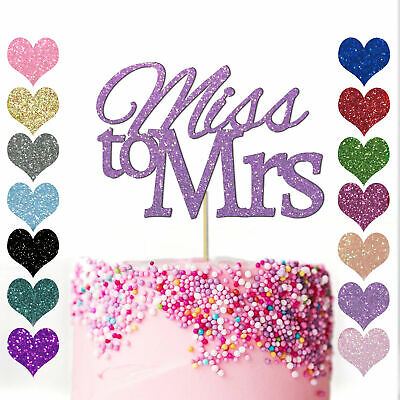 £2.98 • Buy Bride To Be HEN PARTY Cake Topper Girls Engagement Hen Do MISS TO MRS Wedding UK