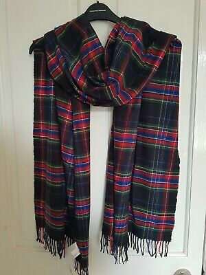 BNWT Gap Black Tartan Scarf Red, Yellow, Green, White, Blue • 6.50£