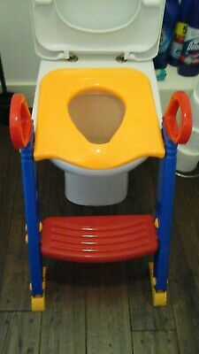 Childrens Toilet Trainer Bathroom Potty Seat Loo Trainer Kids Ladder Steps • 5£