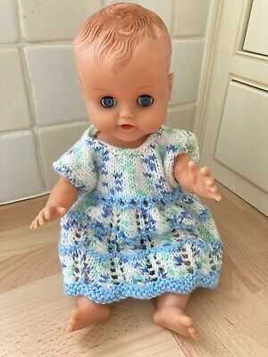 Vintage 60's Roddy Doll In Hand Knit Dress • 10£