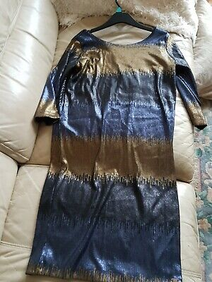 Ladies GUESS Sequin Backless Dress Size 12 • 7.20£