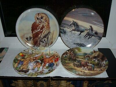 4 Collectable Plates ~ 2 X Wedgwood  ~ 1 X Bradford  ~ 1 X NBJ • 7.99£