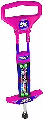 Ozbozz Go Light Up Pogo Stick Spring Powered Outdoor Game Toy For Kids - PINK • 26.95£