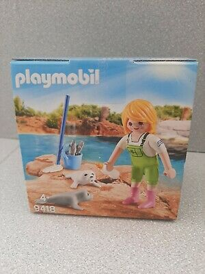 Playmobil Easter Egg 9418 Zookeeper With Seal Pups Zoo Pets Kid's Gift  • 8£