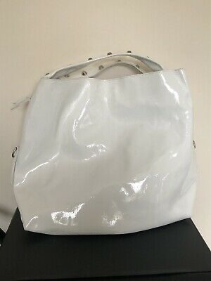 Russell & Bromley White Patent Leather Large Shoulder Bag • 45£