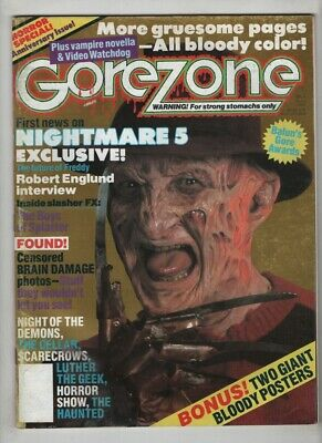 $21.54 • Buy Gorezone Mag Nightmare Robert Englund Interview May 1989 110320nonr