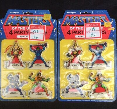 $15.99 • Buy Vintage 1984 Masters Of The Universe Party Favors 4 Name Tags (2) Packs #9416