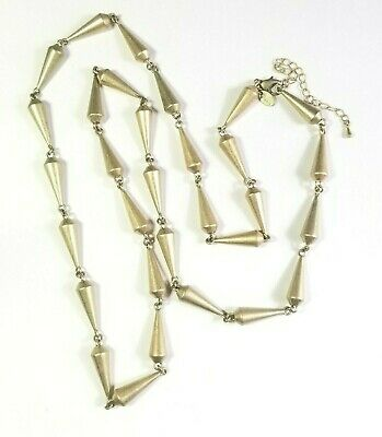"""$ CDN21.86 • Buy Signed Lia Sophia Heavy Abstract Modernist Gold Tone 40"""" Long Necklace 137.5 G"""
