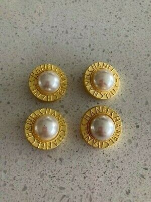 4 Vintage Chanel Metal Buttons • 40£