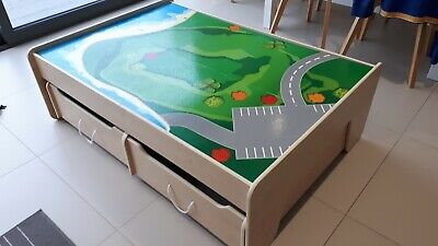 Great Little Trading Company Play Table With Storage Drawers Ideal For Brio/Lego • 25£