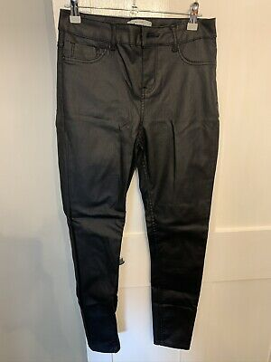 New Look Leather Look Super Skinny Jeans Size 12 • 7£