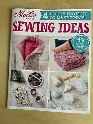 Mollie Makes 'Sewing Ideas' - 4 Pretty Projects To Make Today - VGC • 0.99£