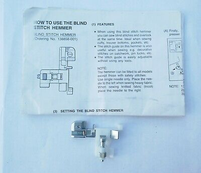 Brother Blind Stitch Hemmer Foot For Sewing Embroidery Machines138858-001 • 15£