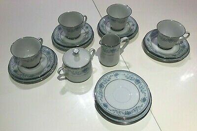 Noritake BLUE HILL Contemporary 24824 - Four Person Tea Set • 16£