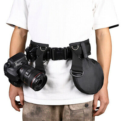 Utility Photography Belt Waistband Strap Solid For SLR / DSLR Camera W/ D-Rings • 9.45£