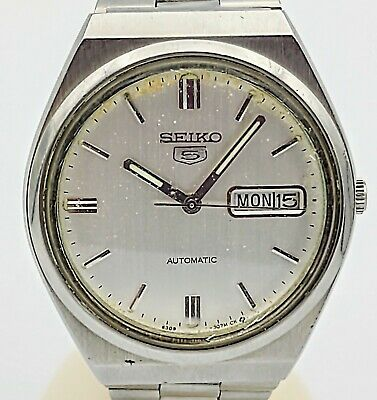 $ CDN1.28 • Buy SEIKO 5 Automatic Day/Date Wristwatch 17J Cal. 6309A 8930 Vintage 1984 Watch