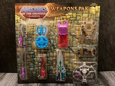 $19.99 • Buy Masters Of The Universe Classics Motuc Weapons Pak, Sealed, Moc, 2009 Pack