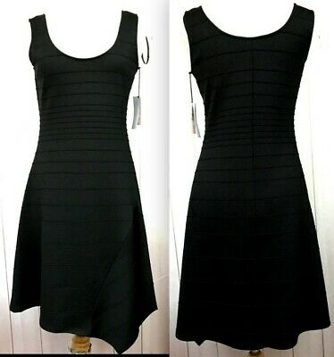 $ CDN37.97 • Buy IVANKA TRUMP Sz S Black Fit & Flare Sleeveless Dress Pointed Hem Pullover  NEW