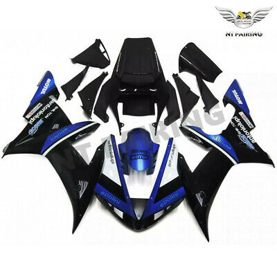 $559.99 • Buy Plastic Fit For Yamaha R1 YZF 2002-2003 Black Injection ABS Fairing Kit L034