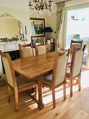 Beautiful John Lewis Solid Wood Dining Table, 6 Chairs & Matching Sideboard • 350£