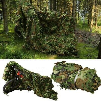 Jungle Camouflage Netting Camping Woodland Hunting Shooting Hide Army Camo Net • 14.29£