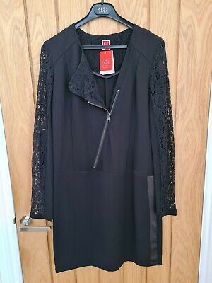 Captain Tortue Gorgeous Biker Dress With Lace Sleeves Size 38/10 RRP £79 • 20£