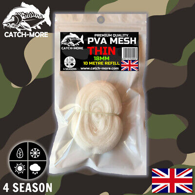 Catch-More PVA Mesh Refills , 18mm Thin , 25mm Narrow Or 37mm Wide - 10 Metres • 4.89£
