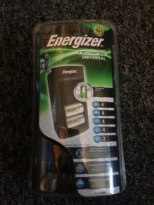 Energizer 2 Hour Universal Rechargeable Battery Charger For AA AAA C D & 9V • 18.10£