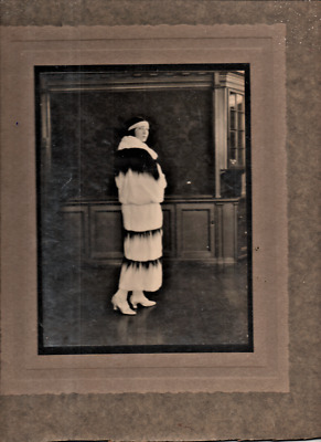 1920's Vintage Fashion Photograph, Lady In Fur Coat • 14.99£
